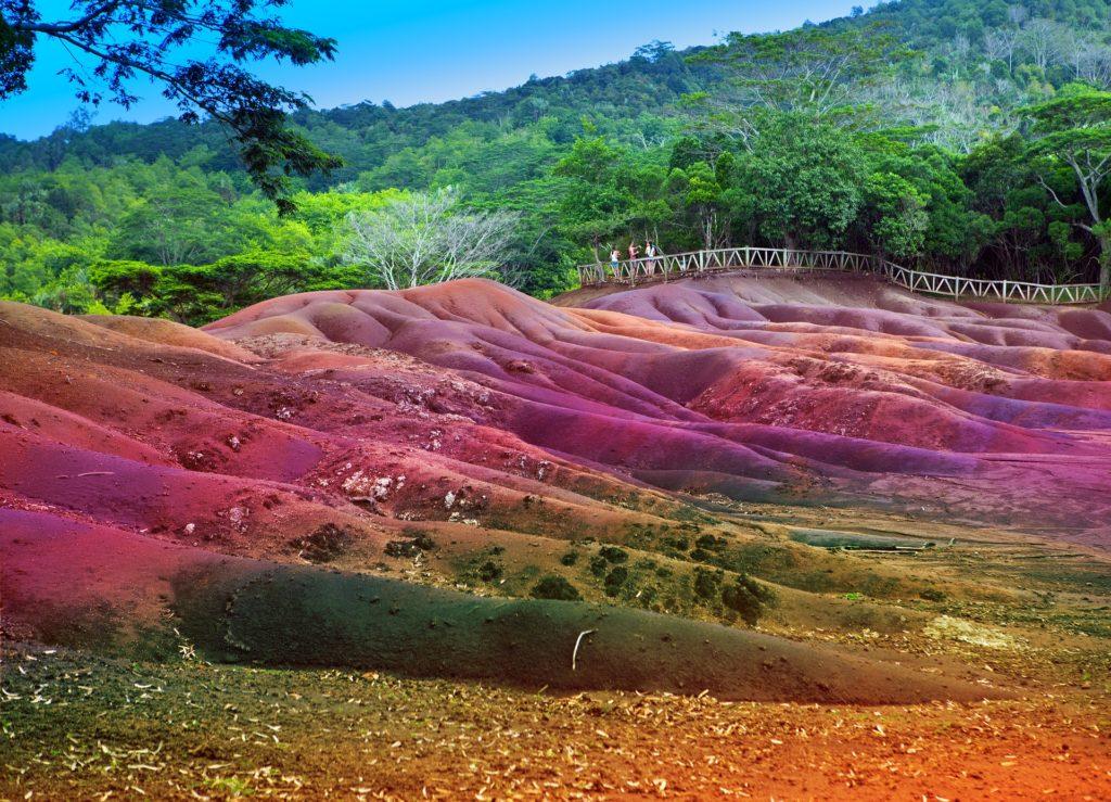 Семицветные пески Маврикия